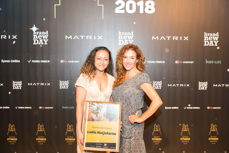 Gold Award Personal Trainer @Dutch Fitness Awards 2018 & op nr. 7 in Overijssel voor Personal Trainer